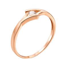 Золотое кольцо Дикси в красном цвете с фианитом 17.5 размера от Zlato