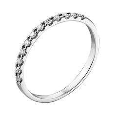 Кольцо из белого золота с бриллиантами и родированием 000132206 17.5 размера от Zlato