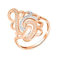 Золотое кольцо Творение в комбинированном цвете с фианитами 17.5 размера от Zlato