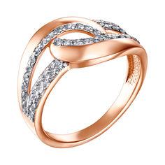 Золотое кольцо в комбинированном цвете с фианитами 000126235 17.5 размера от Zlato