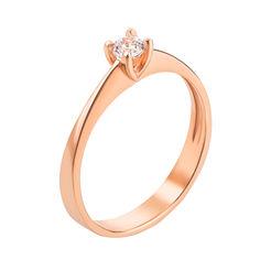 Кольцо в красном золоте Одетта с кристаллом Swarovski 17 размера от Zlato