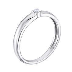Кольцо в белом золоте Незабываемая с бриллиантом 15 размера от Zlato