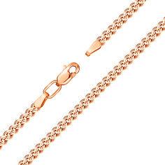 Золотой браслет Нонна в красном цвете, 2,5мм 17.5 размера от Zlato
