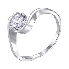 Серебряное кольцо с фианитом 000140614 17.5 размера от Zlato
