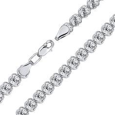 Серебряный браслет в плетении роза 000140484 20 размера от Zlato