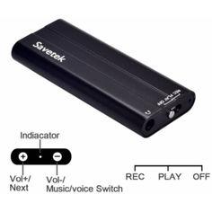 Акция на Мини диктофон с активацией голосом Savetek 600, 16 Гб, Mp3, VOX, 50 часов записи от Allo UA
