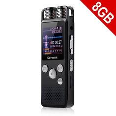 Акция на Профессиональный цифровой диктофон для журналиста Savetek GS-R07, 8 Гб памяти от Allo UA