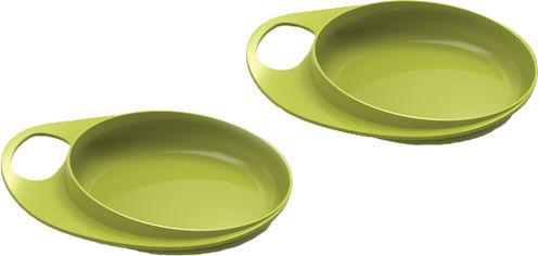 Акция на Набор детских тарелок Nuvita Easy Eating мелкая 230 мл 2 шт (NV8451Lime) от Rozetka