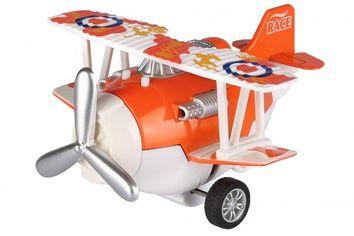 Акция на Самолет металический инерционный Same Toy Aircraft оранжевый со светом и музыкой (SY8012Ut-1) от MOYO