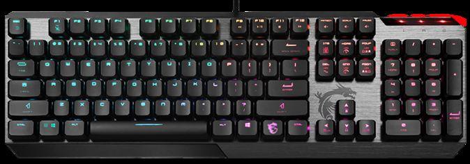Акция на Клавиатура проводная MSI Vigor GK50 Low Profile USB UA от Rozetka