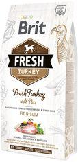 Акция на Сухой корм Brit Fresh Light Fit & Slim для взрослых, пожилых собак с индейкой и горошком 2.5 кг (8595602530809) от Rozetka