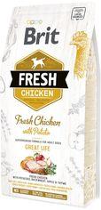 Акция на Сухой корм Brit Fresh Great Life для взрослых собак с курицей и картофелем 2.5 кг (8595602530748) от Rozetka