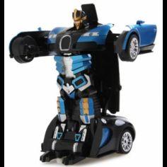 Акция на Машина-трансформер с пультом AUTOBOTS Bugatti Veyron Синяя от Allo UA
