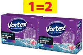 Акция на Набор Vortex Таблетки для посудомоечной машины 40 шт х 2 шт (55600429) от Rozetka