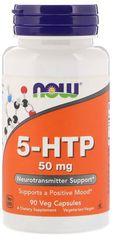 Аминокислота Now Foods 5-HTP (Гидрокситриптофан) 50 мг 90 вегетарианских капсул (733739000996) от Rozetka