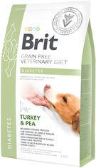 Акция на Сухой корм для взрослых собак Brit VetDiets при сахарном диабете с идейкой и горохом 2 кг (8595602528103) от Rozetka