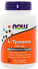 Акция на Аминокислота Now Foods L-Тирозин 500 мг 120 капсул (733739001627) от Rozetka