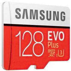 Акция на Карта памяти SAMSUNG microSDXC 128GB Class 10 UHS-I U3 R100/W60MB/s Evo Plus V2 + SD адаптер от MOYO