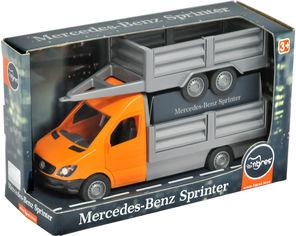 Акция на Автомобиль Tigres Mercedes-Benz Sprinter бортовой с прицепом Оранжевый (39667) от Rozetka