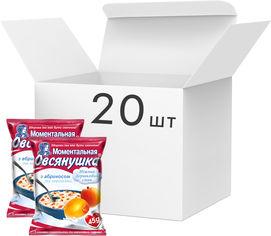 Акция на Упаковка каш овсяных Овсянушка с абрикосом и сливками 45 г х 20 шт (4820039840264) от Rozetka