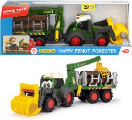 """Акция на Трактор лесника Dickie Toys """"Хэппи. Фендт"""" с краном со звуком и световыми эффектами 65 см (3819003) от Rozetka"""