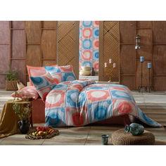 Акция на Комплект постельного белья Eponj Home - Ornament Mint Somon ранфорс евро от Allo UA