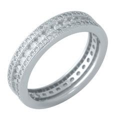 Акция на Кольцо из серебра с куб. циркониями, размер 18 (1662546) от Allo UA