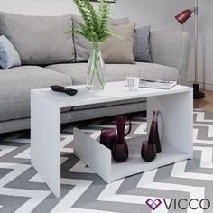 Акция на Vicco журнальный столик Tyrion 80x40, цвет белый от Allo UA