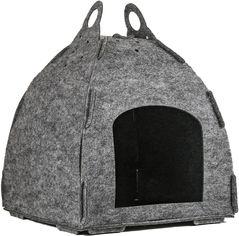 Акция на Домик из фетра для собак и кошек Фортнокс FX Home сборной Юрта 38 х 40 х 43 см Серый (2820000013019) от Rozetka