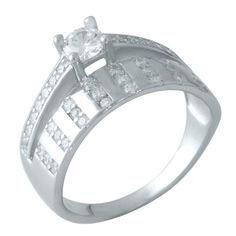Акция на Серебряное кольцо GS с фианитами (0828459) 17 размер от Allo UA