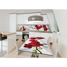 Акция на Наклейка на стол ZatargaОрхидея алая жемчужина01 600х1200мм от Allo UA