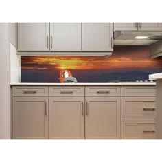 """Акция на Наклейки кухонный фартук Zatarga """"Закат солнца в горах"""" 600х2500 мм оранжевый от Allo UA"""
