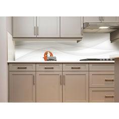 "Акция на Наклейки кухонный фартук Zatarga "" Белый шелк линии "" 650х2500мм белый от Allo UA"