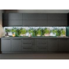 "Акция на Наклейки кухонный фартук Zatarga ""Дождь на стекле"" 600х2500 мм зеленый от Allo UA"