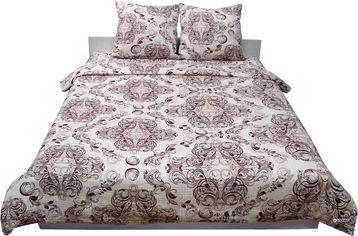 Акция на Комплект постельного белья Руно Сатин 143x215х2 (6.137К_40-0485 Beige Brown) от Rozetka
