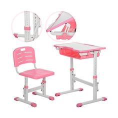 Акция на Детская регулируемая парта (13 положений) с полкой и крючком для рюкзака, розового цвета  арт. 3230-8 от Allo UA