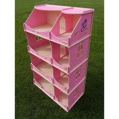 Акция на Игровой Кукольный Домик-шкаф для игрушек Hega для дома и улицы с росписью розовый, 60х30х114 см, арт. TM Hega* от Allo UA