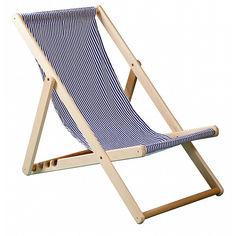 Акция на Деревянный Шезлонг пляжный для дачи, дома и коттеджа, тон волны, 110х64 см от Allo UA