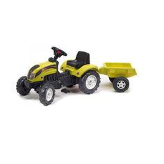 Акция на Детский Трактор с прицепом Ranch Trac Falk, со звуковыми эффектами, клаксоном, 133х54х42 см, ЖЕЛТЫЙ от Allo UA