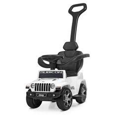 Акция на Детский Электромобиль Каталка-Толокар с родительской ручкой Jeep Rubicon, 64х40х86 см, мотор 6V, арт. 4247EL-1 от Allo UA