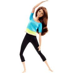 Акция на Шарнирная Кукла для девочек Барби Брюнетка из серии Безграничные Движения Йога - Made to Move Barbie Doll от Allo UA