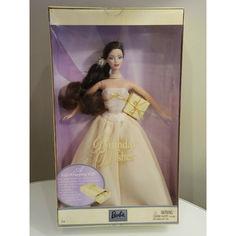 Акция на Коллекционная Кукла Барби С Днем Рождения Брюнетка в пышном платье 2003 года - Barbie Birthday Wishes Doll от Allo UA