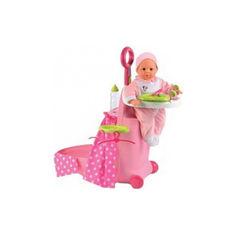 Акция на Детский Игровой набор для куклы с чемоданом и кроваткой Раскладной Чемодан Minnie Smoby Смоби 24х61х47 см от Allo UA