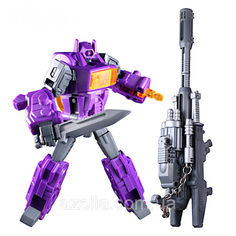Акция на Игрушка для мальчиков Конструктор Робот-Трансформер Шоквейв, 12 см - Waveblaster, G1, Masterpiece, KuBianBao от Allo UA