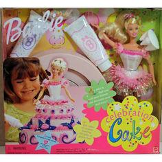 Акция на Коллекционный Набор Барби Праздничный торт 1999 года, юбка-форма торта, глазурь Barbie Celebration Cake Doll от Allo UA
