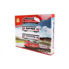 Акция на Детская Игрушечная Железная Дорога Молния 2 паровозиками с регулировкой скорости, свет и звук арт. 9712-1 В от Allo UA