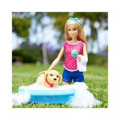 Акция на Кукольный набор Кукла Барби купание щенка - Barbie Splish Splash Pup Playset от Allo UA