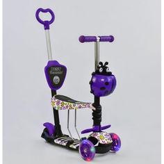 Акция на Детский Самокат - беговел 5в1 для детей от 1 до 5 лет с родительской ручкой, подножками Best Scooter арт. 97240 от Allo UA