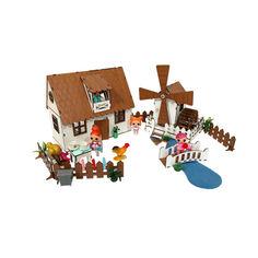 Акция на Кукольный Домик для кукол ЛОЛ Сельский + мельница с мебелью, текстилем и светом 30х19х26 см (2202) от Allo UA