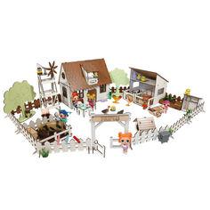 Акция на Кукольный Домик для кукол ЛОЛ Сельский + ферма с мебелью, текстилем и светом 30х19х26 см (2203) от Allo UA